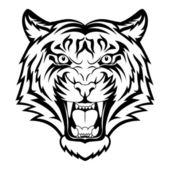 Tygr obličej — Stock vektor