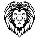 cabeza de leon — Vector de stock