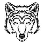 Wolf head — Stock Vector