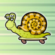 Snail skateboarder — Stock Vector