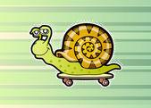 Snail skateboarder — Stock Vector