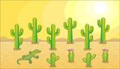 Vector cactus set — Stock Vector