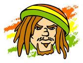 Rastafarian — Stock Vector