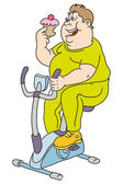 Funny fat man — Stock Vector