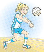 Volleyball player — Stock Vector