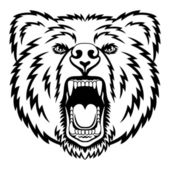 Growling bear — Stock Vector