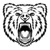 Warczenie niedźwiedź — Wektor stockowy