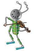 The robot musician — Stock Vector