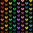 Stock Vector: Hearts background
