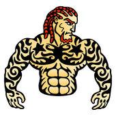 Tattoo man — Stock Vector
