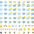 Stock Vector: Weather Icon Set