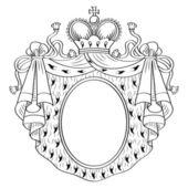 紋章のフレーム — ストックベクタ
