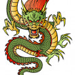 Chinese Dragon — Stockvectorbeeld