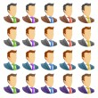 Human icon set — Stock Vector