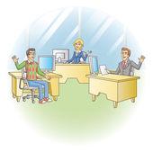 Office workers — Stock Vector