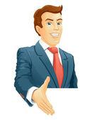 Smiling businessman — Stock Vector
