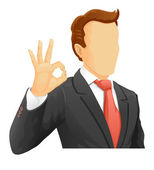Faceless businessman — Stock Vector