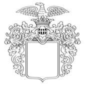 Heraldic Frame — Stock Vector