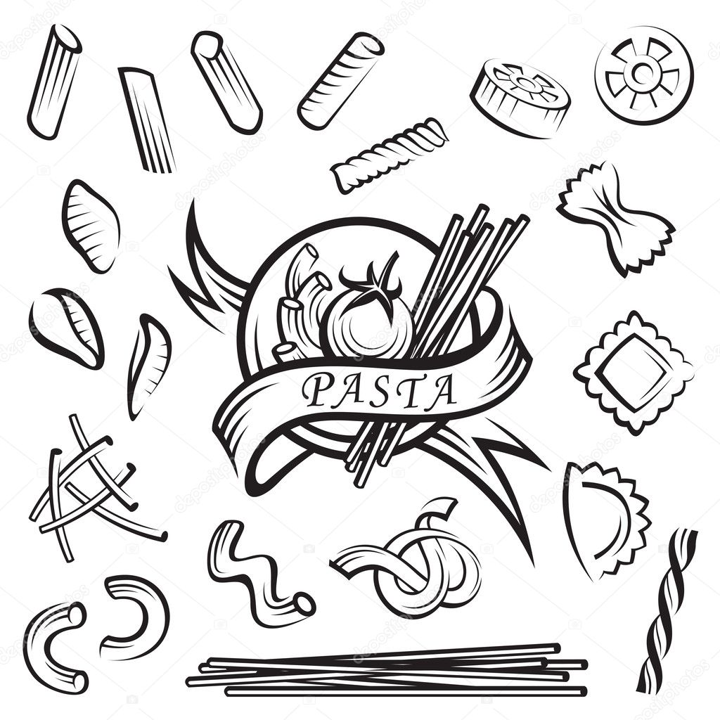 Sketch Of Pasta Coloring Pages Pasta Coloring Pages