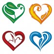 Vector hearts set — Stock Vector #13433943