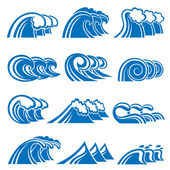 Set of waves — Stock Vector