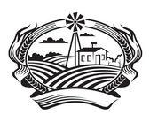 Paisaje agrícola — Vector de stock