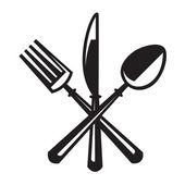 Bıçak, çatal ve kaşık — Stok Vektör