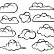 Set of clouds — Stock Vector