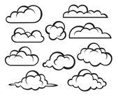 Conjunto de nubes — Vector de stock