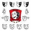 Vector de stock : Set of theatrical masks