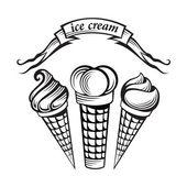 Ice cream set — Stock Vector