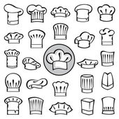 Set of chef hats — Stock Vector