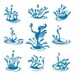 Water icons - Stockvectorbeeld