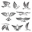 Eagle symbols — Stock Vector