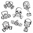 Gas masks — Stock Vector