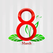 International Women's Day - 8 March — Stock Vector