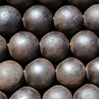 Pile of Cannon Balls — Stock Photo