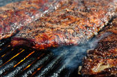 Pork Ribs on the Grill — Stock Photo