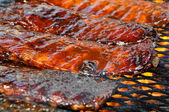 Pork Ribs on the Grill — Foto Stock