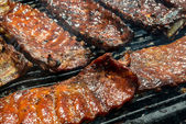Barbecue Ribs on the Grill — Stock Photo