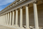 Stone Foundation Pillars in a Row — Stock Photo