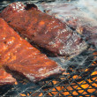 Stock Photo: BBQ ribs on Grill