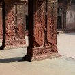 Stock Photo: Pillars at Fort Agrin India