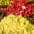 Yellow Chrysanthemum Flowers in a Basket — Stock Photo #22389939