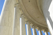 Pillars at Jefferson Memorial Building — Stock Photo
