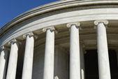 Jefferson Memorial Pillars in Washington DC — Stock Photo
