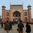 Stock Photo: Entrance into the Taj Mahal