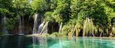 Waterfalls at Plitvice National Park in Croatia — Stock Photo