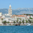 City of Split in Croatia with Birds Flying in the Sky — Stock Photo