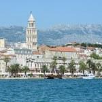 City of Split in Croatia with Birds Flying in the Sky — Stock Photo
